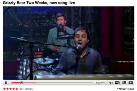 Grizzly Bear David letterman