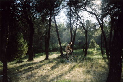 Ryan McGinley -bike rider