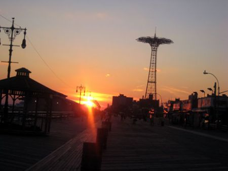 Sunset on coney island