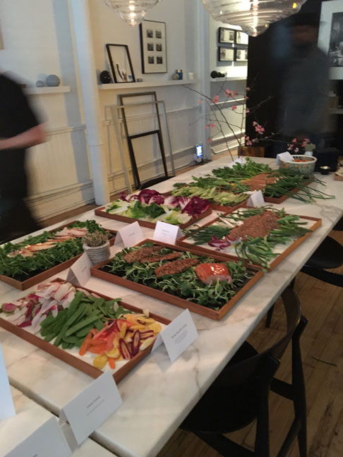 beautiful-food-spread,-THE-APARTMENT-by-The-Line,-Soho,-NYC