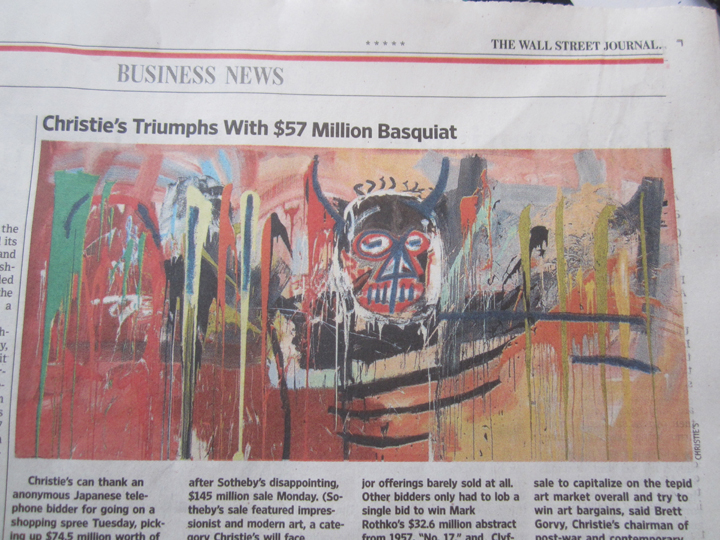 BASQUIAT-SELLS-FOR-$57.3-MILLION,-CHRISTIE'S,-MAY-10,-2016,-NYC