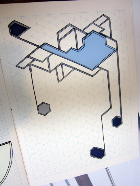 blue-grid-drawing-by-Tricia--Keightley