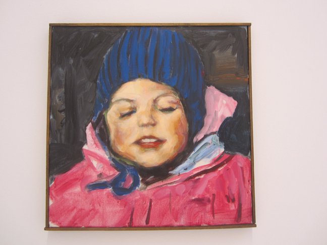 walter-robinson-antonia-in-snowsuit-painting